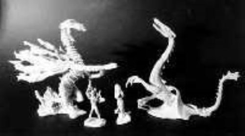 Fantasy Miniatures - Boxed Sets RAFM Elemental Dragons - Fire and Water SW