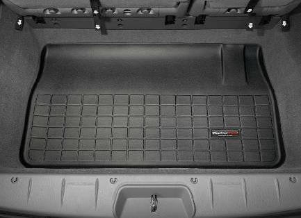 2005-2015 Chrysler Town & Country Black WeatherTech Cargo Liner [For Vehicles with Long Wheel Bases and Stow'n Go Seating; Coverage Behind 3rd Seat] (Country Weathertech Cargo Liner)