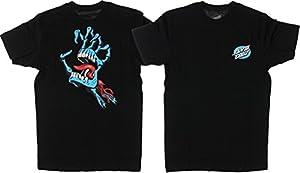 Santa Cruz Skateboards Bone Hand Black T-Shirt - Small