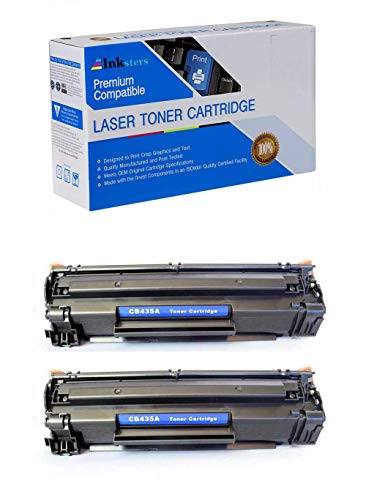 Inksters Compatible Black Toner Cartridge Replacement for HP 35A (CB435A) - Compatible with Laserjet P1002 P1003 P1004 P1005 P1006P1009 (2 Pack)