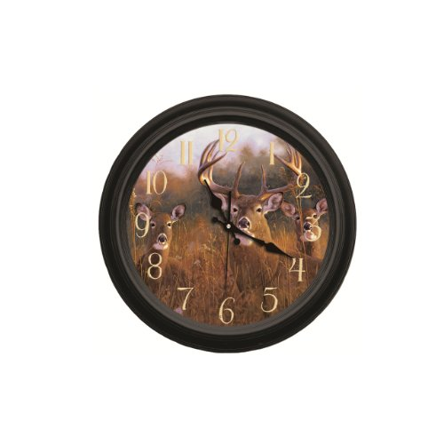 Reflective Art The Buck Stops Here Classic Wall Clock, ()