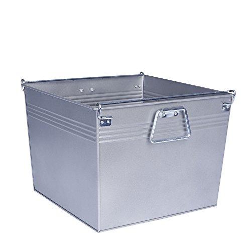 Household Essentials Decorative Metal Storage Bin, Gunmetal