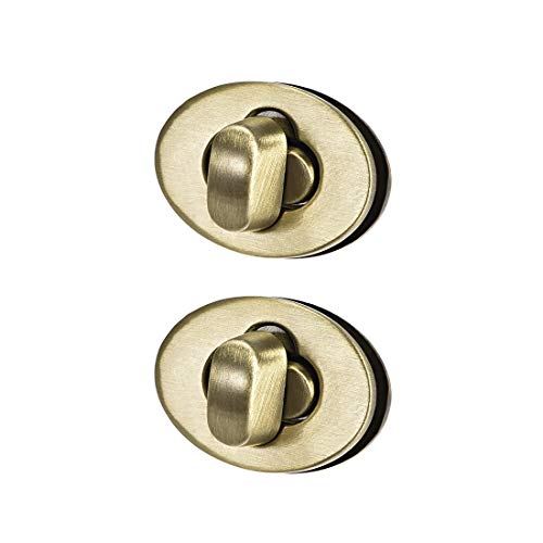 uxcell 2 Sets Oval Purses Twist Lock 23mm X 17mm Clutches Closures for DIY Bag Making - Brussed Brass