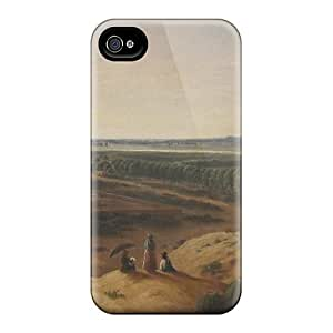 Flexible Tpu Back Case Cover For Iphone 4/4s - West Texas Ranch by icecream design