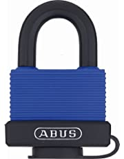 ABUS 70IB/50 C Solid Brass Weatherproof Padlock Keyed Different with Stainless Steel Shackle, Blue
