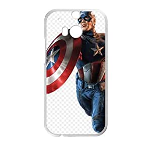 Captain America HTC One M8 Phone Case Black white Gift Holiday Gifts Souvenir Halloween Gift Christmas Gifts TIGER157578
