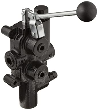 """Prince LS-3000-1 Directional Control Valve, Logsplitter, 4 Ways, 3 Positions, Spring Center to Neutral, Cast Iron, 2750 psi, Lever Handle, 25 gpm, In/Out: 3/4"""" NPTF, Work: 1/2"""" NPTF"""