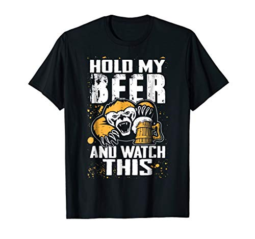 Badger Watch - Hold My Beer and Watch This Badger Don't Care T-shirt