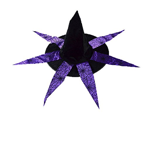 Halloween Cap KIKOY Adult Witch Hat For Costume Accessory -