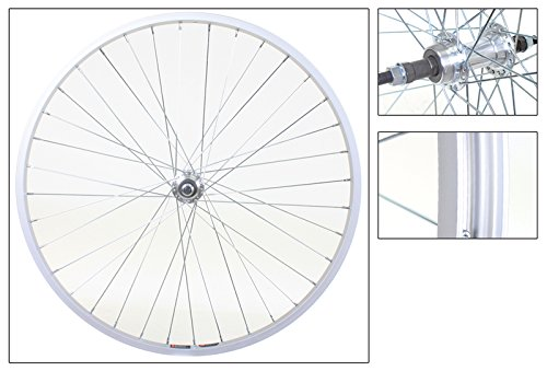 Rear Alloy Sprocket - WheelMaster Rear Bicycle Wheel 26 x 1.5 36H, Alloy, 5/6/7 speed Freewheel, Bolt On, Silver
