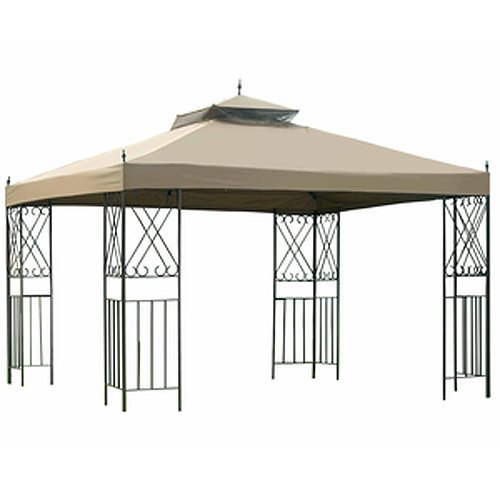 (Garden Winds Scroll Gazebo Replacement Canopy - RipLock 350)