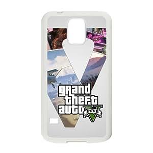 gta v 4 Samsung Galaxy S5 Cell Phone Case White xlb2-260956