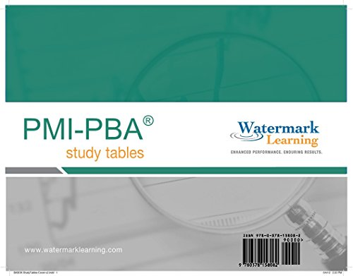 PMI-PBA Study Tables