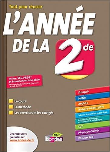 L Annee De La 2nde Toutes Les Matieres Amazon Fr Sophie