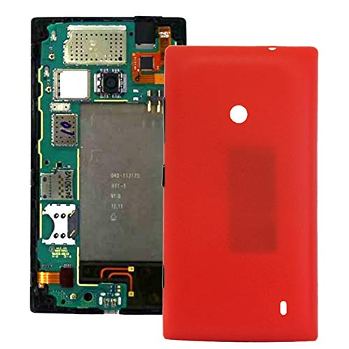 JIJIAO Repair Replacement Parts Plastic Back Housing Cover for Nokia Lumia 520(Black) Parts (Color : Red) (Nokia Lumia 520 Back Cover)