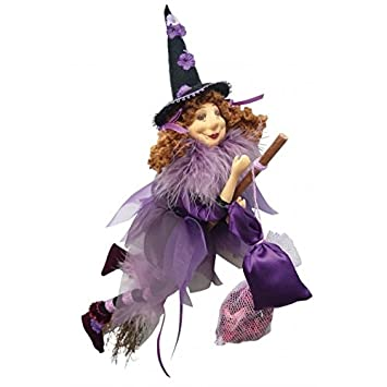 Witches of Pendle – Jazz Witch Flying Purple 32cm