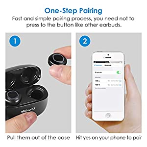 Wireless Earbuds, Touch Control TWS Bluetooth 5.0 Stereo Hi-Fi Sound IPX7 Waterproof Earbuds with 3000mAh Charging Case, Noise Cancelling Wireless Headphones from ABCShopUSA