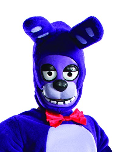 Rubie's Costume Boys Five Nights at Freddy's Bonnie The Rabbit 3/4 Mask Costume, One -