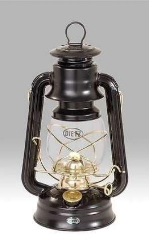 (Dietz Original 76 Oil Lamp Burning Lantern Black with Gold Trim)