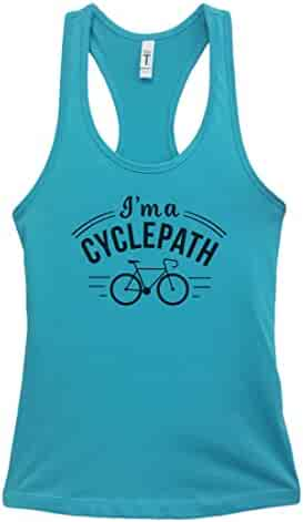 "ab1e9c7cce06de Womens Workout Cycling Tank Top Junior Fitness ""I m A Cycle Path 2"""