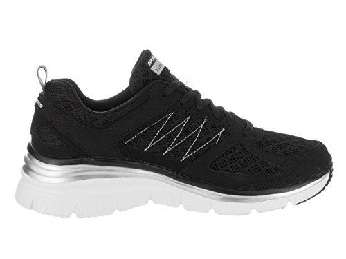 Skechers Damenmode Fit Not Afraid Sneaker Schwarz-Weiss
