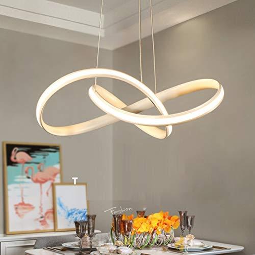 JYXZ LED Minimalism Chandelier Modern White Iron Aluminum Pendant Lights Creative Ceiling Lights Living Room Home Dining Room Home Study Hanging Elegant Decorative Ø70cm H18cm, 500mm