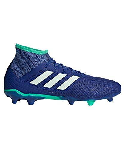 Adidas Predator 18.2FG pavimento duro–43.3Stivale da adulto calcio stivali di calcio, pavimento duro, Adulto, Uomo, suola con tasselli, Blu, Monótono)