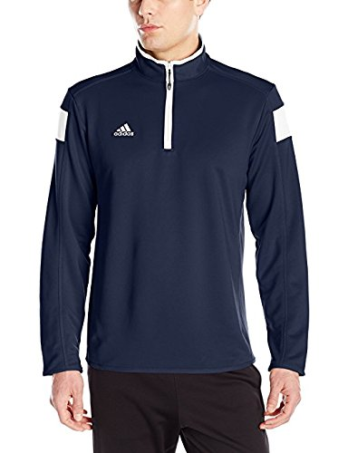 adidas climalite Shockwave 1/4 Zip Long sleeve, Collegiate Navy/White, Xx-Large by adidas