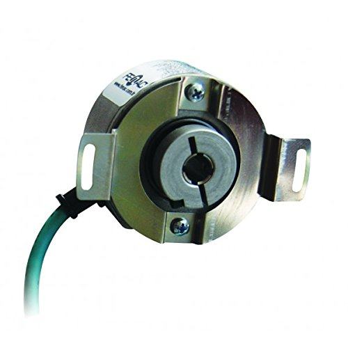 Fenac FNC 50H 12630V5000-R2 Incremental Encoder 50mm Body Diameter, Through Hollow Shaft 12mm, 6 Channel, 5-30V in/Out, 5000PPR, 2m Cable
