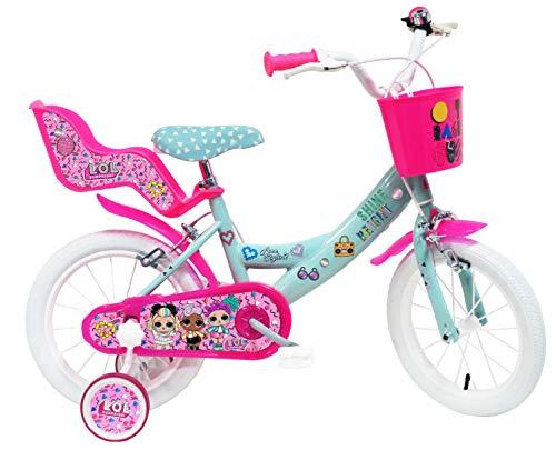 Denver Bike 14 Lol bicicletta Ciudad 35,6 cm (14″) Acero Rosa, Turquesa, Blanco Niñas – Bicicleta (Vertical, Ciudad, 35,6 cm (14″), Acero, Rosa, Turquesa, Blanco, 35,6 cm (14″))