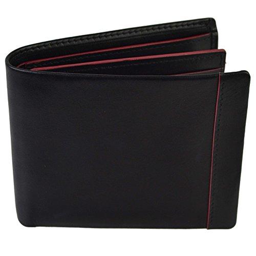 Golunski Real Leather Bi-Fold Wallet By Gift Boxed Coloured Hightlights by Golunski