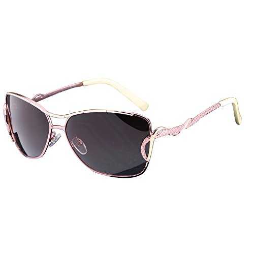 Lnabni Women's Shades Oversized Polarized Driving Sunglasses with Sun Glasses Case - For Small Oval Face Best Sunglasses