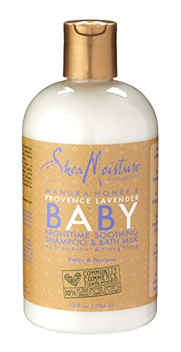 SheaMoisture Manuka Honey & Provence Lavender Baby Nighttime Soothing Shampoo & Bath Milk  13 fl.oz.