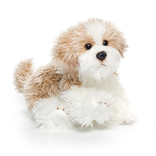 (DEMDACO Small Maltipoo Dog Curly Light Brown White Children's Plush Stuffed Animal Toy)