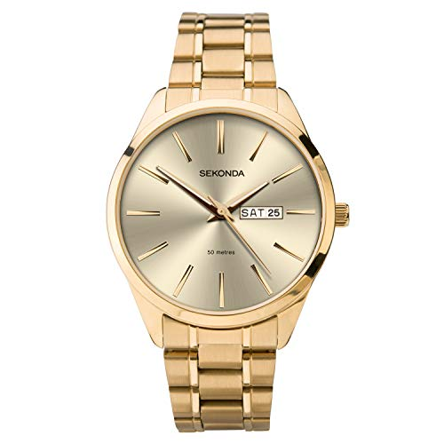 SEKONDA Mens Analogue Classic Quartz Watch with Stainless Steel Strap 1643.27