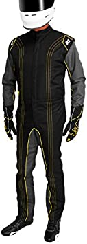 K1 Race Gear CIK//FIA Level 2 Approved Kart Racing Suit Yellow, XXX-Small