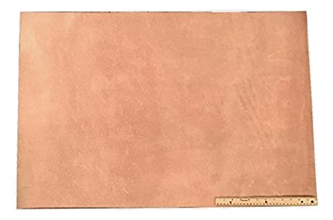 Leather Side Piece Veg Tan Split Medium Weight 2 X 3 Feet 6 Square Feet - 2 Side Foot