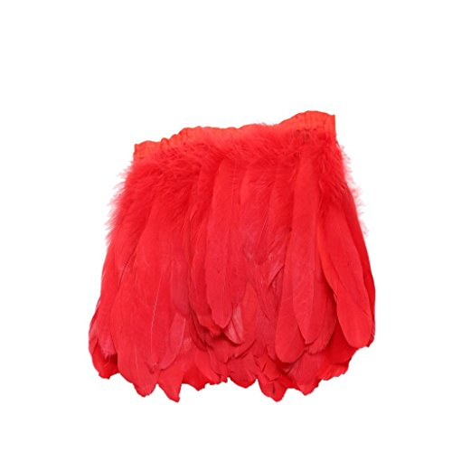 [Beautiful Natural Goose Feather Fringe Sewing Trim for DIY Crafts Stage Costumes Clothes Wedding Decoration -] (Diy Costume)
