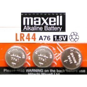 Price comparison product image 3 Pack MAXELL AG13 LR44 A76 357 Alkaline Button Cell battery
