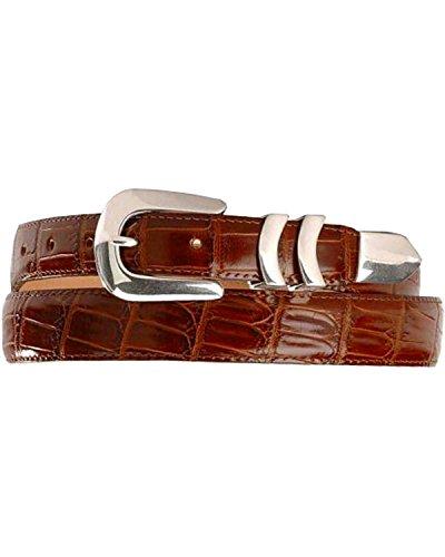 Leather Crocodile Belt (Leegin Men's Crocodile Print Leather Belt Brown)