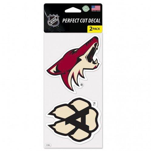 WinCraft NHL Arizona Coyotes Perfect Cut Decal (Set of 2), 4