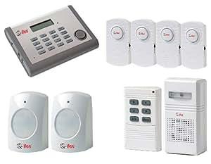 Q-See QSDL503AD 433.5 - 434MHz Color blanco - Sistema de seguridad (100 m, 0,1 mA, 12 mA, Color blanco)