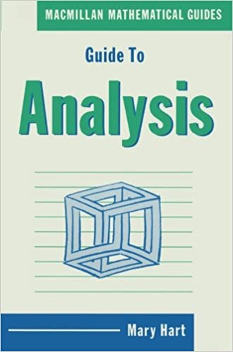 Guide to Analysis (Mathematical Guides)