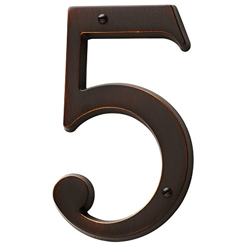 Baldwin Estate 90675.112.CD Solid Brass Traditional House Number Five in Venetian Bronze, 4.75'' by Baldwin