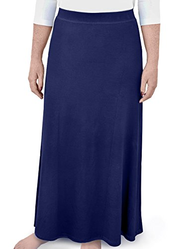 Kosher Casual Kids Big Girls' Modest A-Line Maxi Skirt Medium Navy by Kosher Casual