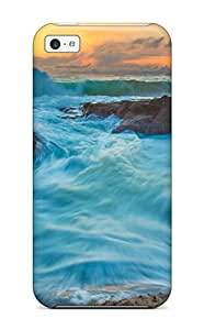 Megan S Deitz's Shop Cheap Fashion Protective Tide And Waves Case Cover For Iphone 5c