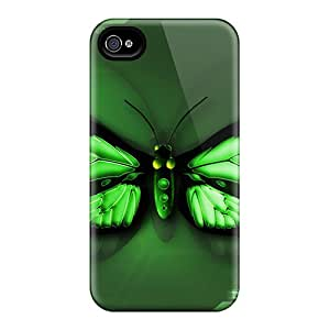 Protection Case For Iphone 4/4s / Case Cover For Iphone(butterfly Green)