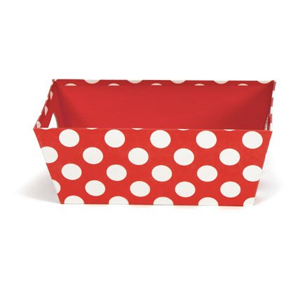 Scott's Cakes Empty Red with White Polka Dots Tray