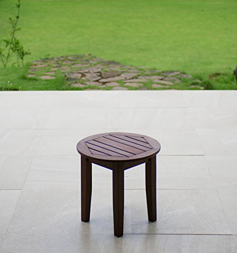 Cambridge-Casual Bentley Round Side Table, Natural For Sale