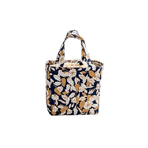 Camping Picnic Bag Cooler Box Flamingo Printing Thermal Bag Waterproof Oxford Beach Lunch Bag Food Large Capacity Picnic Basket,dark blue - Natural Miniature Woven Beach Bags